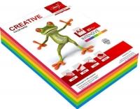 Бумага цветная для копировальных аппаратов и принтеров, 250л, 80г/кв.м, формат А4, ассорти, 5цветов Intensive  (Крис)
