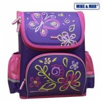Рюкзак школьный раскладной Mike&Mar (Майк Мар) Лето фиолет/роз