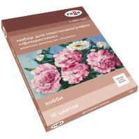"Набор для пластилинографии Гамма ""Хобби. Флористика"", 15 цветов, 390г, мастер-класс, стек, картон. у"
