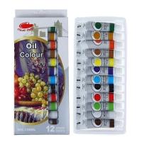 Краски масляные 12 цветов в пластиковой тубе 12 мл