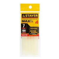 Стержни клеевые STAYER Master, прозрачные, 7 х 100 мм, 6 шт