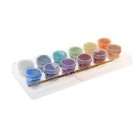 Краска акриловая набор Pearl 12 цветов *3мл Аква-Колор перламутровая с кистью блистер