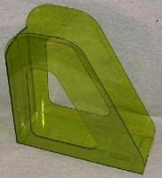 Лоток вертикальный 1секц 090мм Стамм Фаворит, тонированный зеленый Лайм (Стамм)