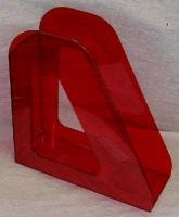 Лоток вертикальный 1секц 090мм Стамм Фаворит, тонированный темно-красный Вишня (Стамм)