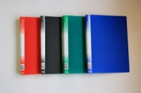 Папка пластиковая 4 кольца А4 35мм, карман, ассорти Office-2000