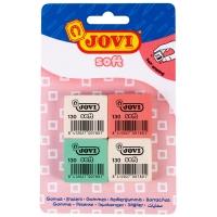 """Набор ластиков JOVI """"Soft"""", 4шт., прямоугольные, натуральный каучук, блистер"""