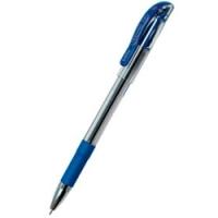 Ручка масляная Cello Techno Tip, 0.6мм, прозрачный корпус, резиновая накладка, металл наконечник, колпачок с клипом, стержень синий (305 228020) (Cello)