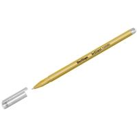 "Ручка гелевая Berlingo ""Brilliant Metallic"", золото металлик, 0,8мм"
