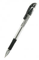 Ручка масляная Cello Techno Tip, 0.6мм, прозрачный корпус, резиновая накладка, металл наконечник, колпачок с клипом, стержень черный (305 228010)