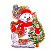 Наклейка Снеговик 52*42 см