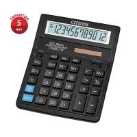 Калькулятор настольный Citizen SDC-664S, 16 разрядов, двойное питание, 153*199*31мм, черный