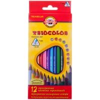 """Карандаши цветные Koh-I-Noor """"TrioColor"""", 12цв., трехгран., заточен., европодвес"""