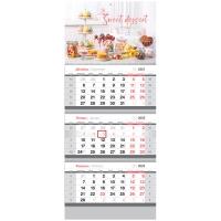 "Календарь квартальный 3 бл. на 3 гр. OfficeSpace ""Sweet Dessert"", 2022г."