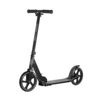 Двухколесный самокат City-Ride , дека алюминий анод., t-bar сталь, грипсы 135мм TPR, колеса PU 200/200, 86A, подножка, abec 9, цвет Черный