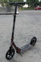 Двухколесный самокат City-Ride , дека алюминий анод., t-bar сталь, грипсы 135мм TPR, колеса PU 200/200, 86A, подножка, abec 9, цвет Желтый