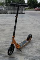 Двухколесный самокат City-Ride , дека алюминий анод., t-bar сталь, грипсы 135мм TPR, колеса PU 200/200, 86A, подножка, abec 9, цвет Золото