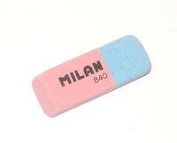 Ластик Milan комбинированный прямоугольный скошенный, для грифеля и чернил из каучука, размер 50х19х7мм