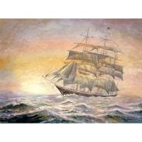 Набор ДТ Алмазная мозаика Корабль на закате 30*40см