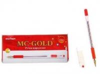 Ручка масл. шар. MunHwa MC GOLD красная  0.5мм с держателем (со штрихкодом)