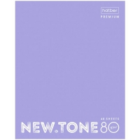"Блокнот А5 80л. на гребне Hatber ""NEWtone Pastel. Лаванда"", 80г/м2, пластиковая обложка"