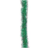 """Мишура """"Норка 1"""" зеленая с серебряными кончиками, 200*5см"""