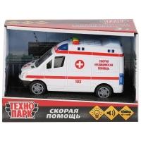 Модель  Микроавтобус Скорая Технопарк  в кор.