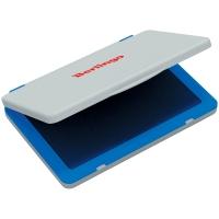 Штемпельная подушка Berlingo, 100*80мм, синяя, пластиковая