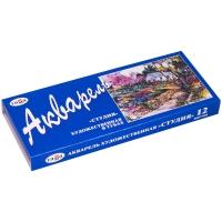 """Акварель Гамма """"Студия"""",  художественная, 12 цветов, 9мл/туба, картон"""