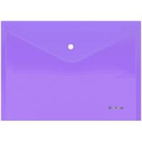 """Папка-конверт на кнопке Berlingo """"Starlight"""", А4, 180мкм, прозрачная фиолетовая, индив. ШК"""