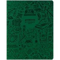"""Дневник для музыкальной школы 48л. (лайт) """"Music pattern. Green"""", иск.кожа, тон.бл, ляссе"""