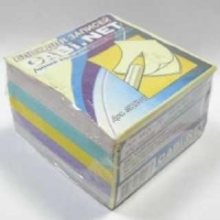 Блок для записи Куб 7*7*4 400л цветной, проклеенный