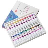 Краски акриловые Сонет, 24 цвета, 10мл/туба, картон