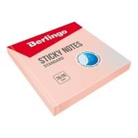 """Самоклеящийся блок Berlingo """"Standard"""", 76*76мм, 100л, розовый"""