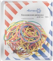 Резинка для денег 100гр. 60мм ATTOMEX цветные,70% натурал.каучук