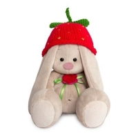 Зайка Ми в вязаной шапке Клубничка малая 18 см
