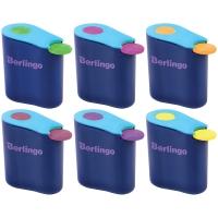 """Точилка пластиковая Berlingo """"Hybrid"""", 1 отверстие, контейнер, ассорти"""