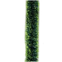 Мишура зеленая с салатовыми кончиками, 200*7см