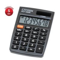 Калькулятор карманный Citizen , 8 разрядов, двойное питание, 58*88*10мм, черный