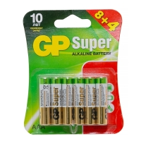 Батарейка GP Super AAA (LR03), 8+4, 24A алкалиновая, BC12