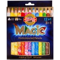"""Карандаши с многоцветным грифелем Koh-I-Noor """"Magic"""", 13цв., утолщенные, заточен., картон, европод."""