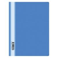 Папка-скоросшиватель пластик. , А4, 160мкм, голубая с прозр. верхом