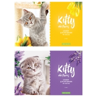 "Альбом для рисования 40л., А4, на скрепке  ""Kitty & Flower"""