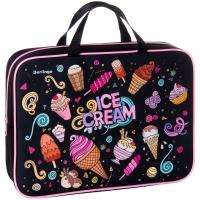 """Папка с ручками 1 отделение, А4 Berlingo """"Ice-cream"""", 350*265*80мм, текстиль, на молнии"""