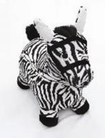 Мяч-прыгун гимнастический, с тканевой накидкой (в форме зебры), цвета в ассорт. в/п 49*50 см