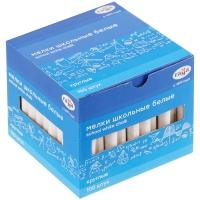 Мелки белые Гамма, 100шт., мягкие, круглые, картонная коробка