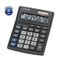 Калькулятор настольный Citizen Business Line CMB, 8 разр., двойное питание, 100*136*32мм, черный
