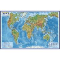 """Карта """"Мир"""" физическая Globen, 1:25млн., 1200*780мм, интерактивная, с ламинацией, европодве"""