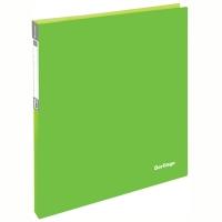 """Папка на 2 кольцах Berlingo """"Neon"""", 25мм, 700мкм, неоновая зеленая"""