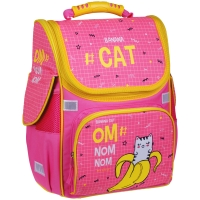 """Ранец  """"Banana Cat"""" розовый 37*28*21см, 1 отделение, 3 кармана, анатомическая спинка"""