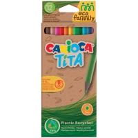 """Карандаши цветные пластиковые Carioca """"Tita. EcoFamily"""", 12цв., заточен., картон, европодвес"""